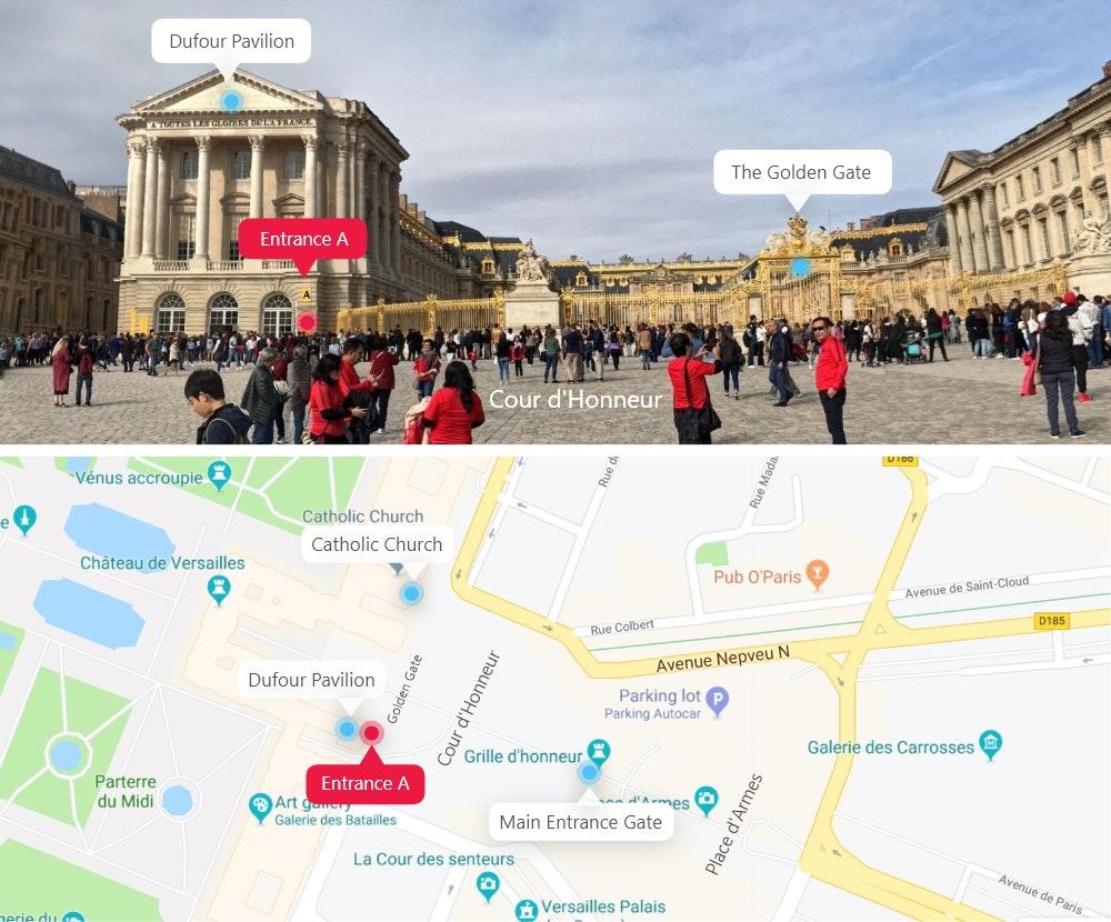 Carte du château de Versailles