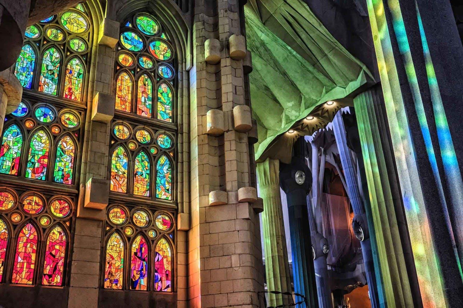 skip the line tickets sagrada familia stained glass windows