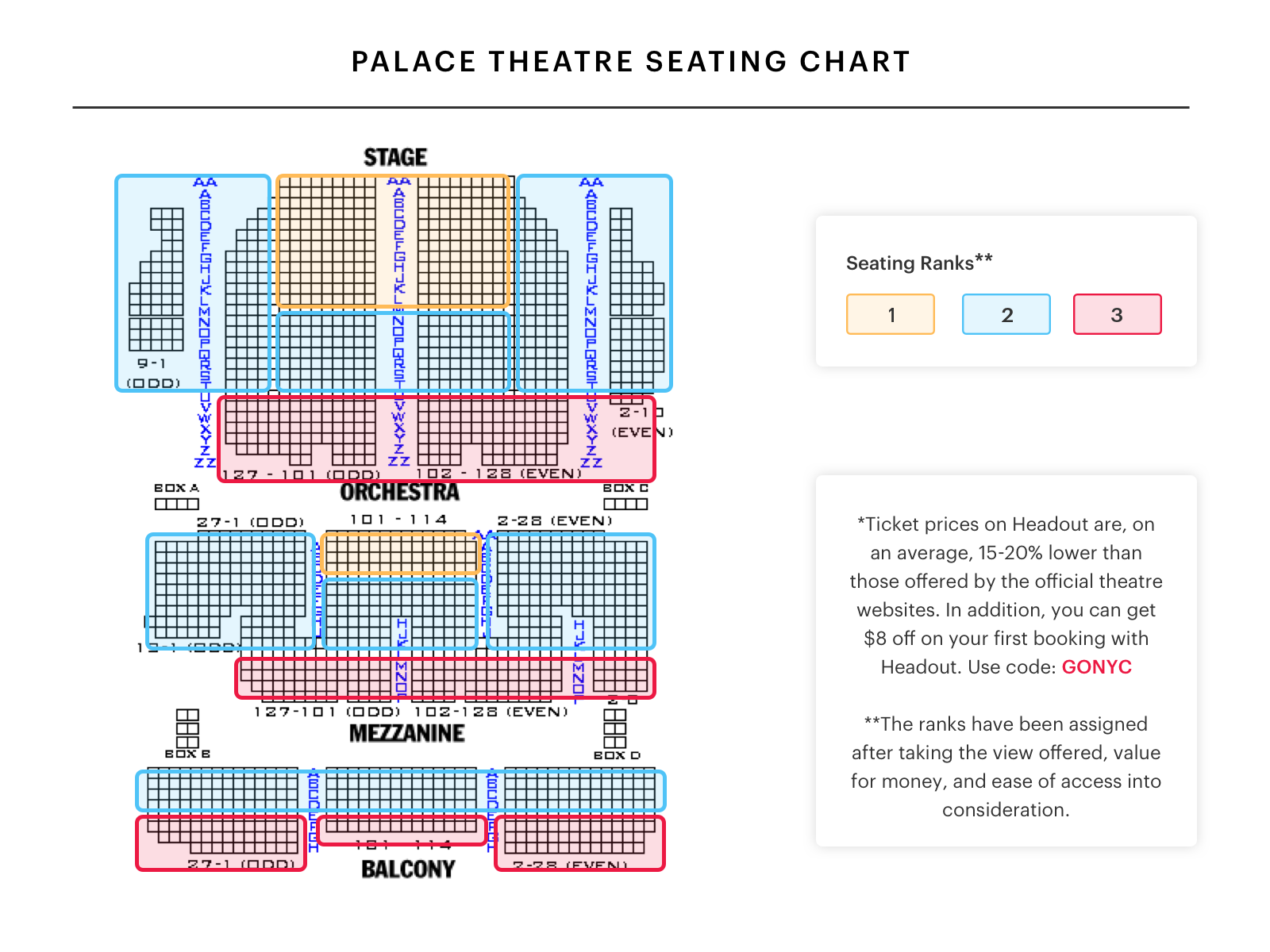 Marquee Theater Seating Chart Wallseatco