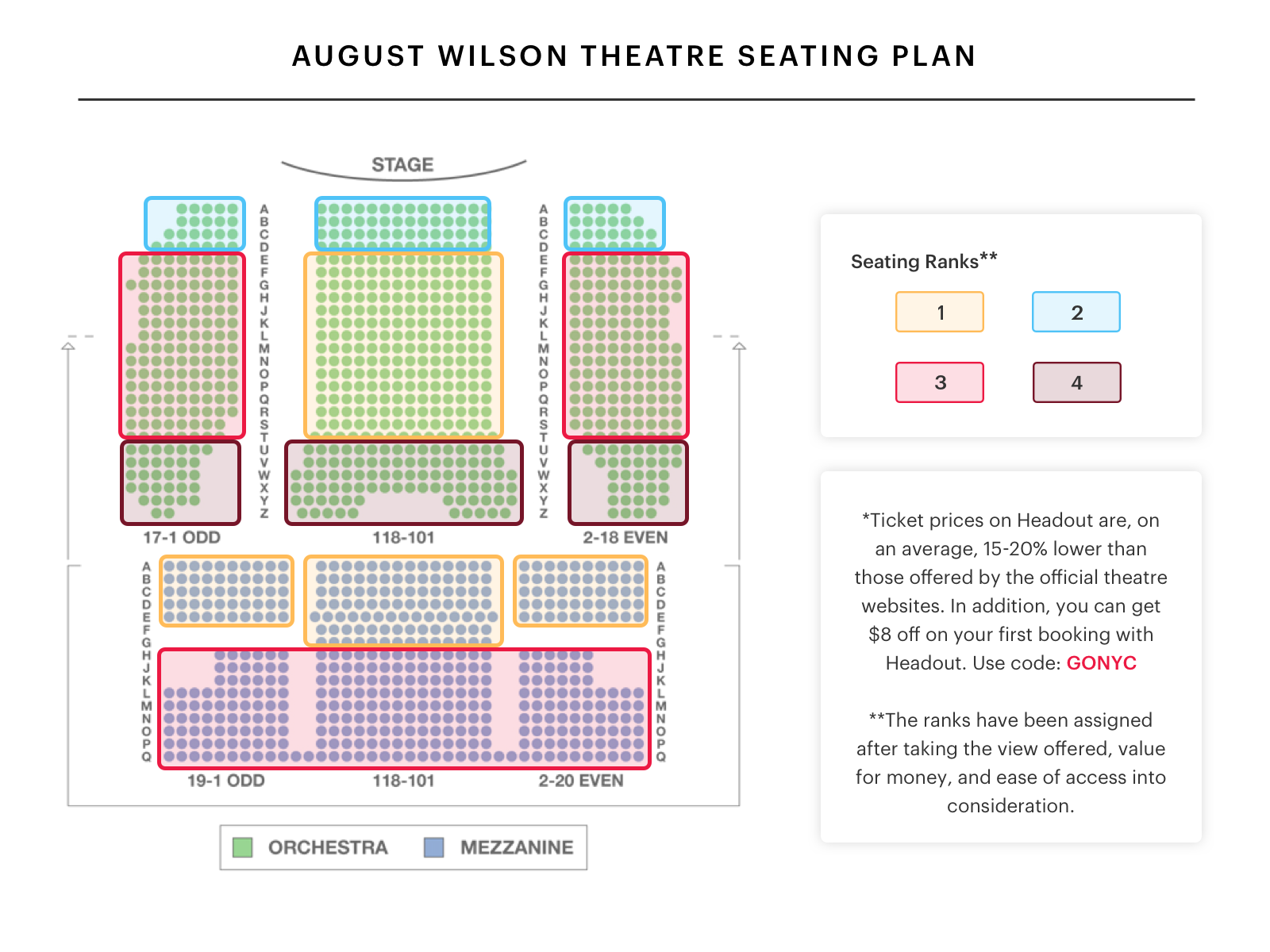 August wilson theatre seating chart mean girls best seats