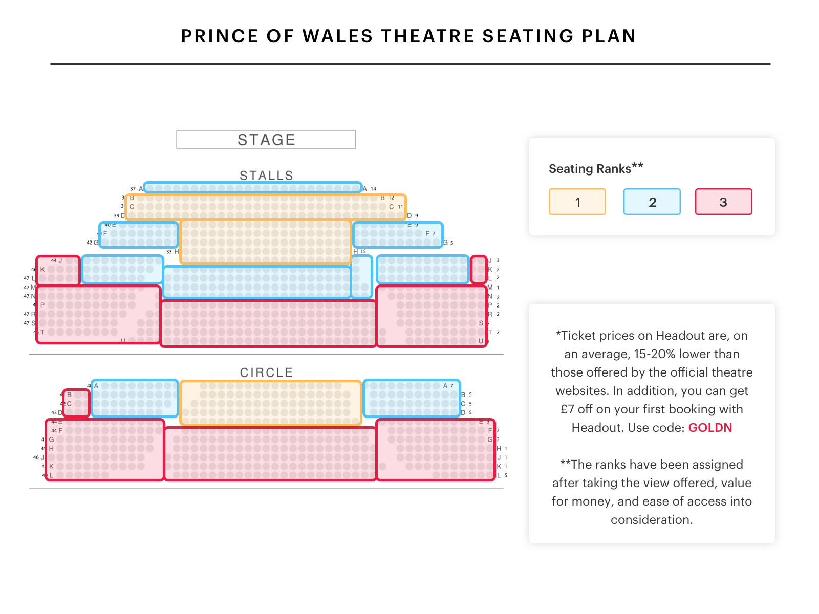 prince of wales theatre seating plan watch the book of mormon