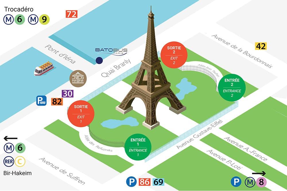 Eiffel Tower map