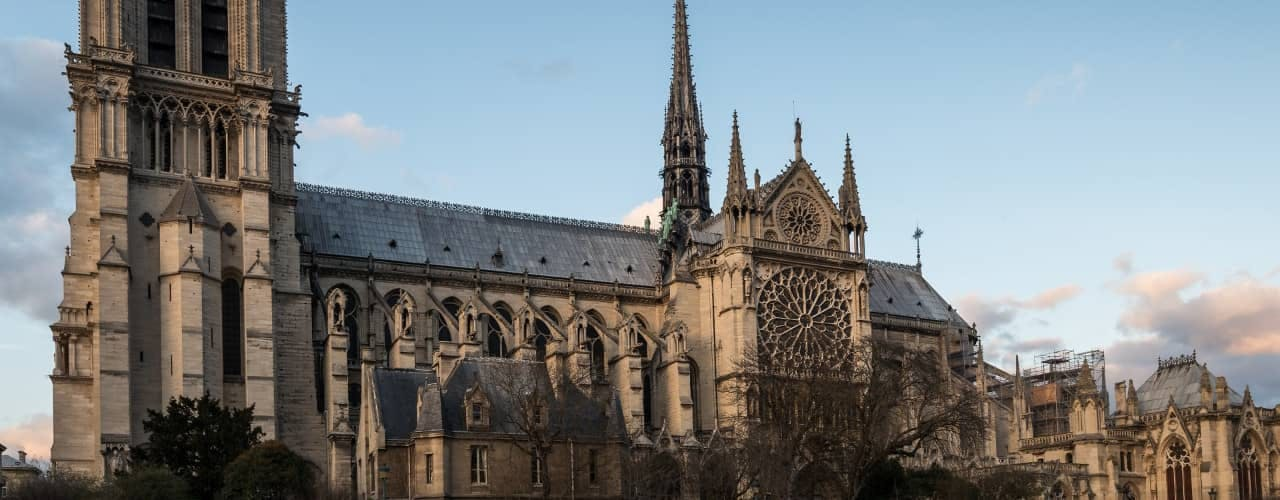 paris in january - notre dame
