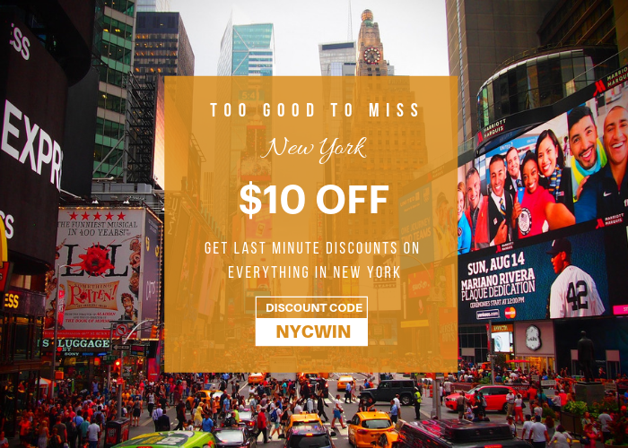 New York Holiday Season discounts