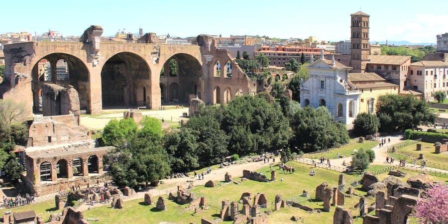 rome in november - Roman forum