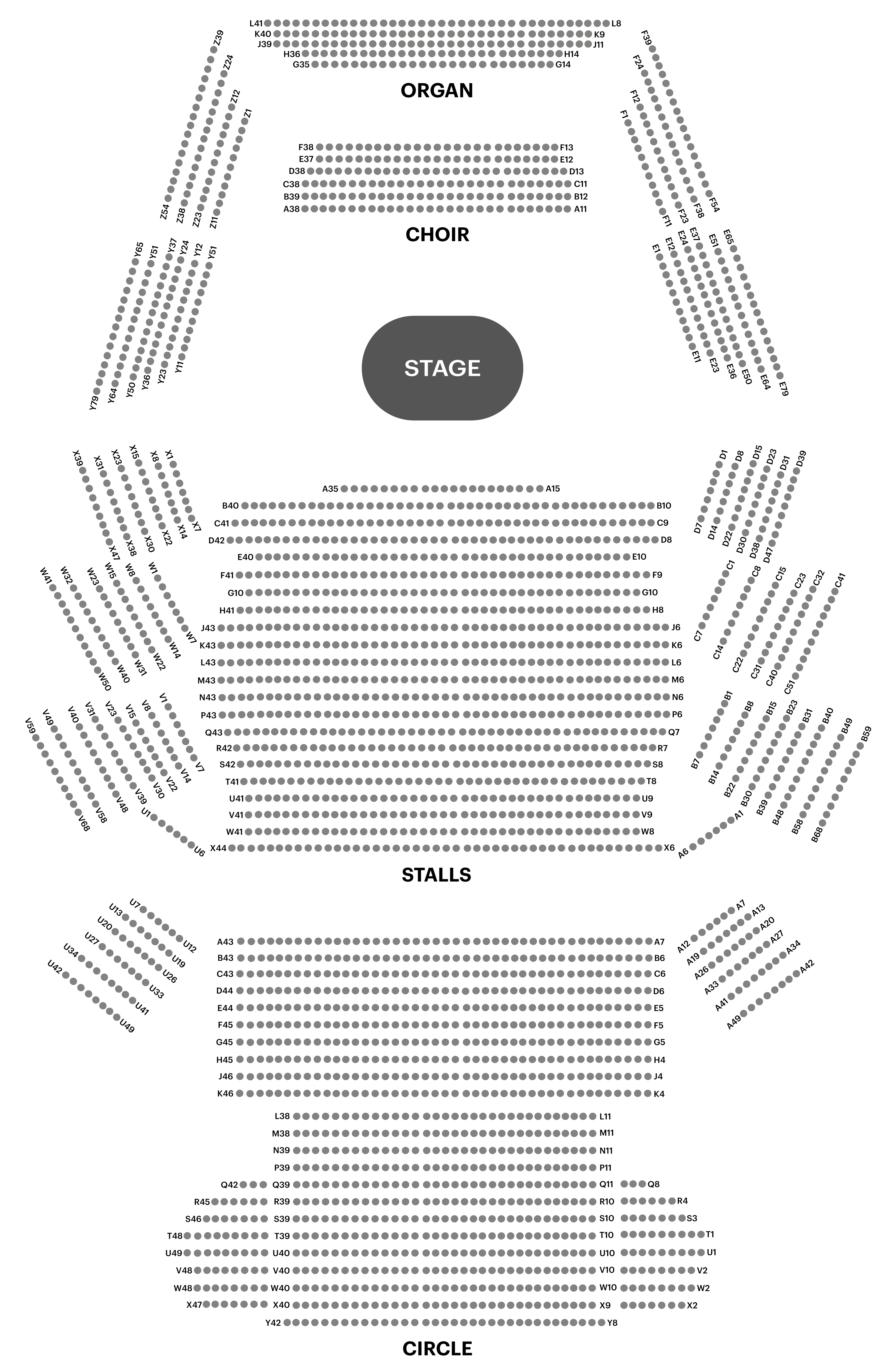 Concert Hall Seating Chart