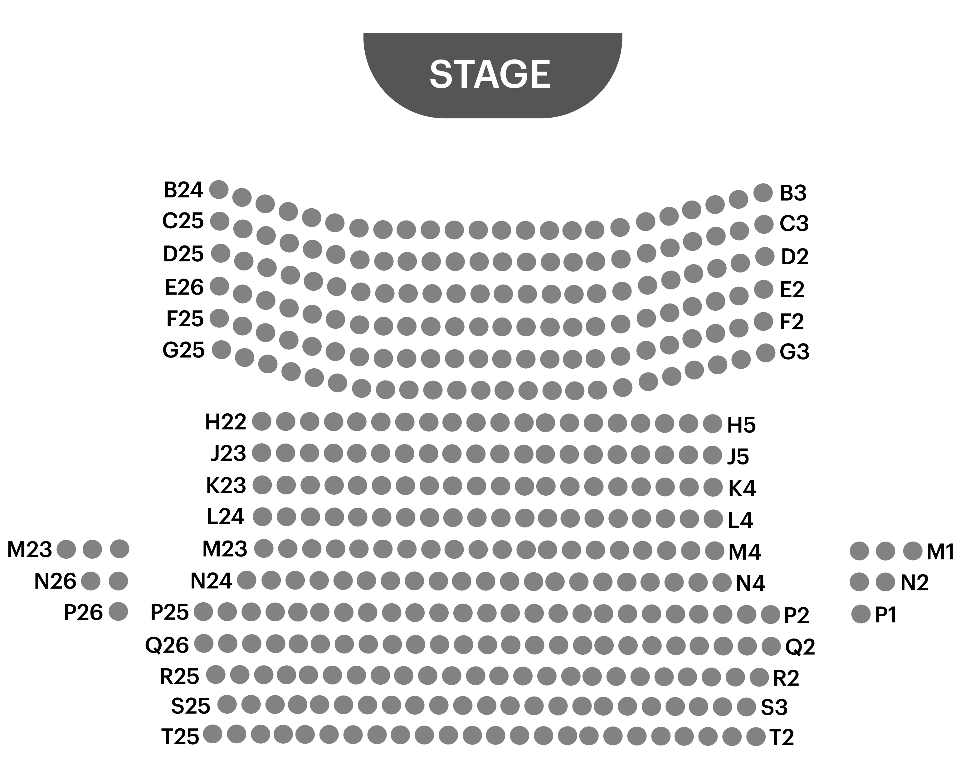 playhouse seatmap