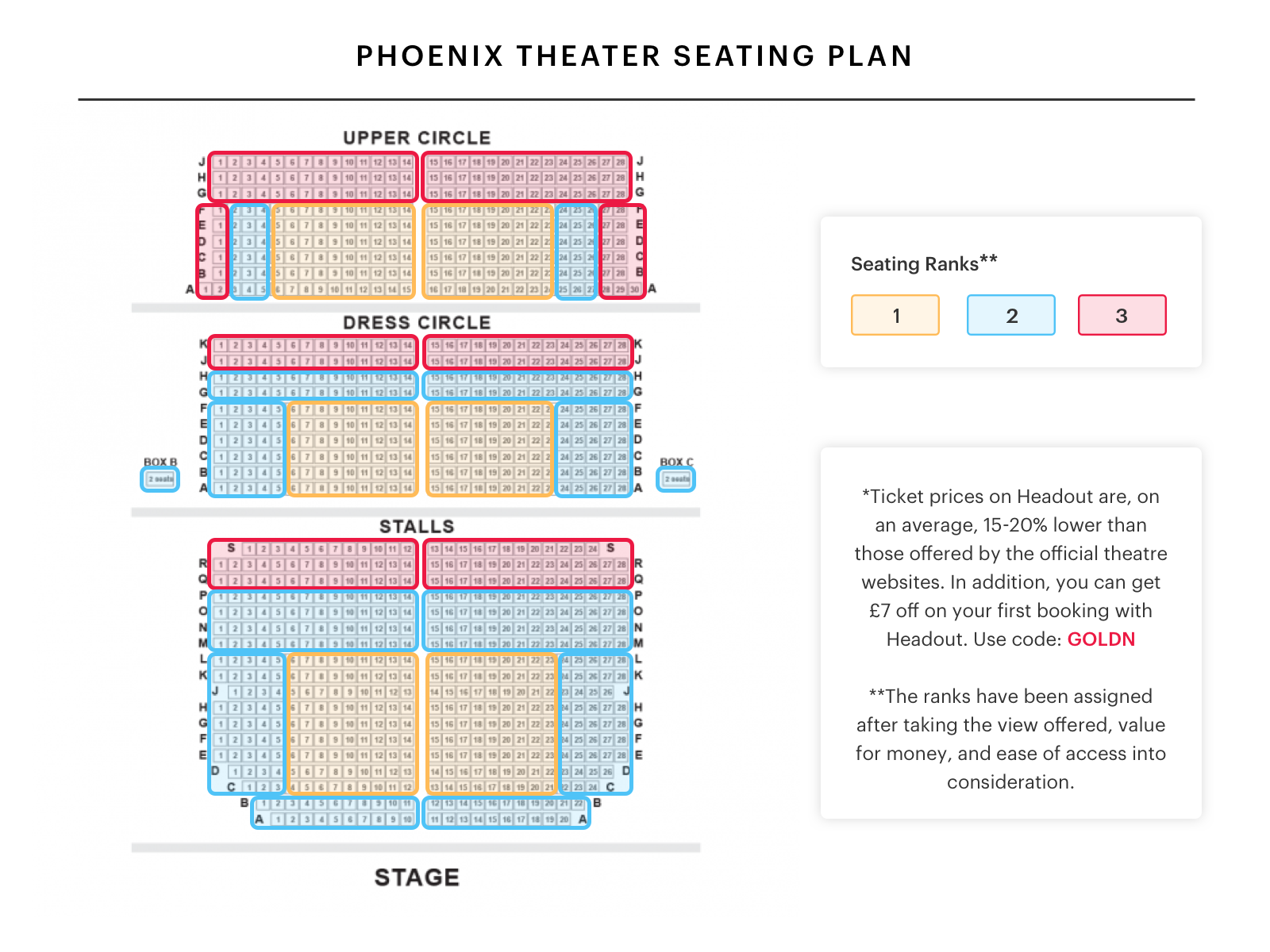 Phoenix Theatre Seating Plan Find The Best Seats For Chicago