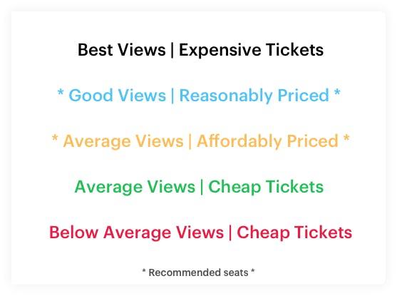 Aldywch Theatre Seating Plan Key