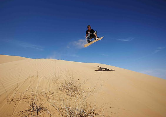 Adventure sports in Dubai - Sandboarding - 2