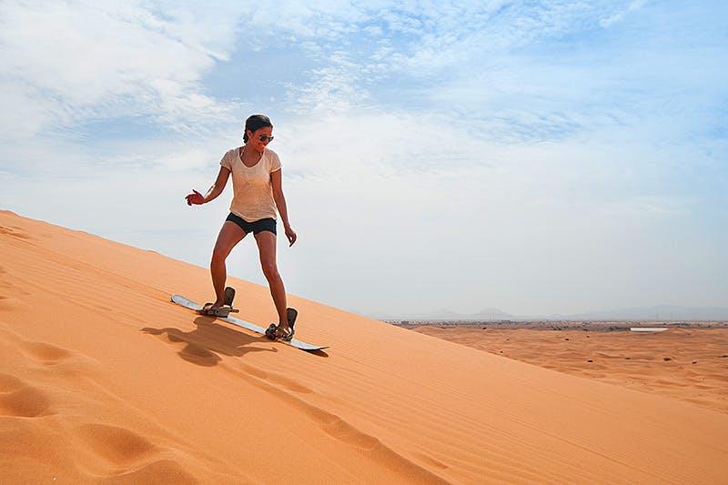 Adventure activities in Dubai - Sandboarding - 3