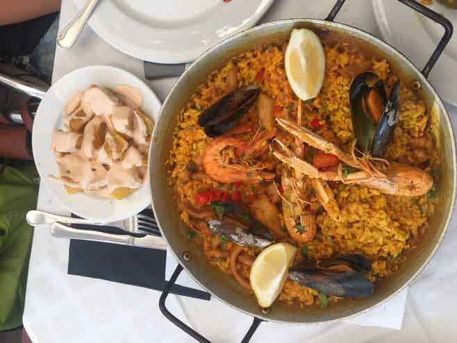 barcelona in May - food