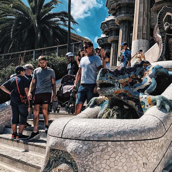 Park Guell Monumental Zone - Dragon Stairway