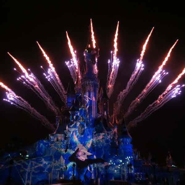 Paris in november - disneyland fireworks