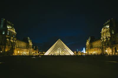 Visiting the Louvre At Night