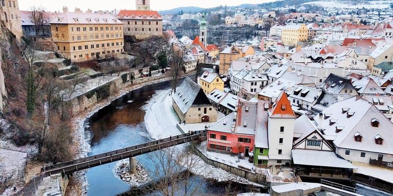 prague to Český Krumlov - Český Krumlov castle