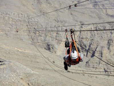 Zipline in Jebel Jais