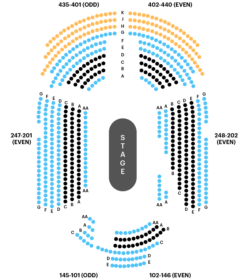 Circle In the Square Theatre Seating Chart Map
