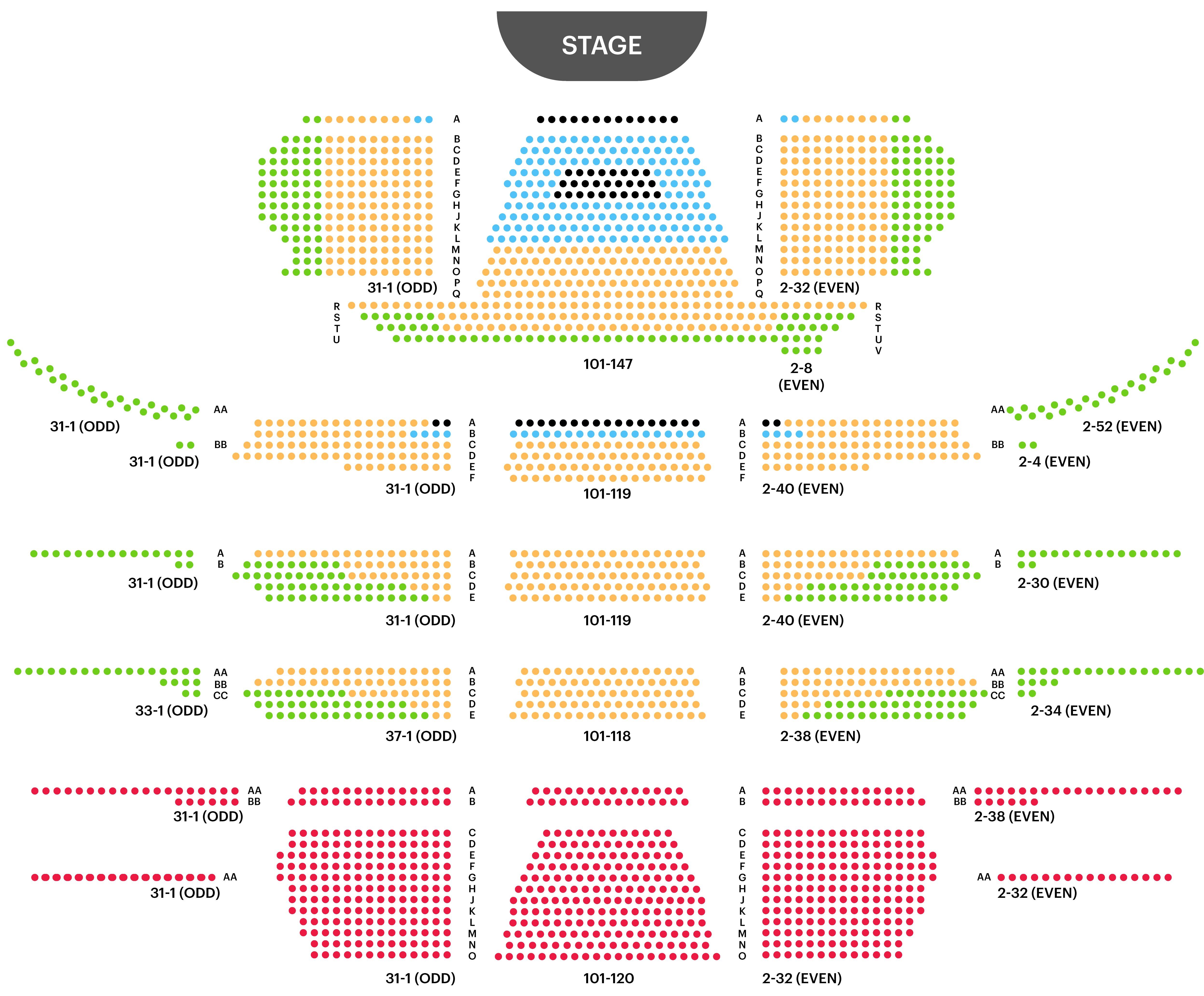 David H Koch Theatre Seating Chart