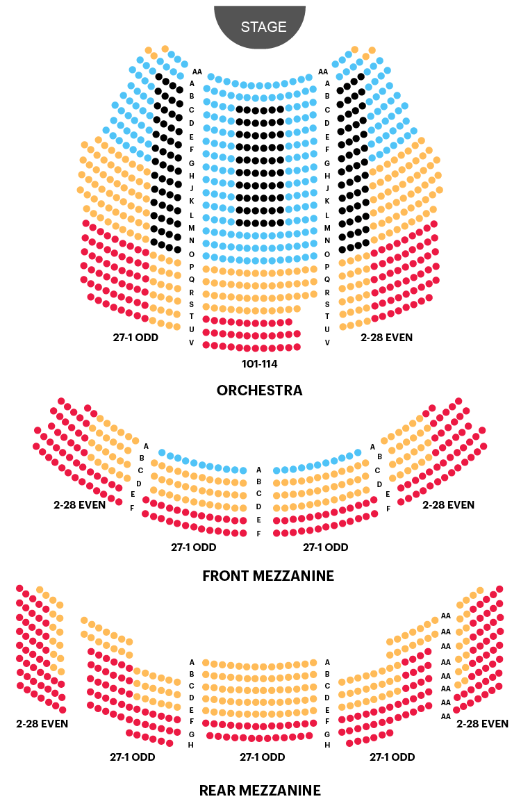 Imperial Theatre Seating Chart Map