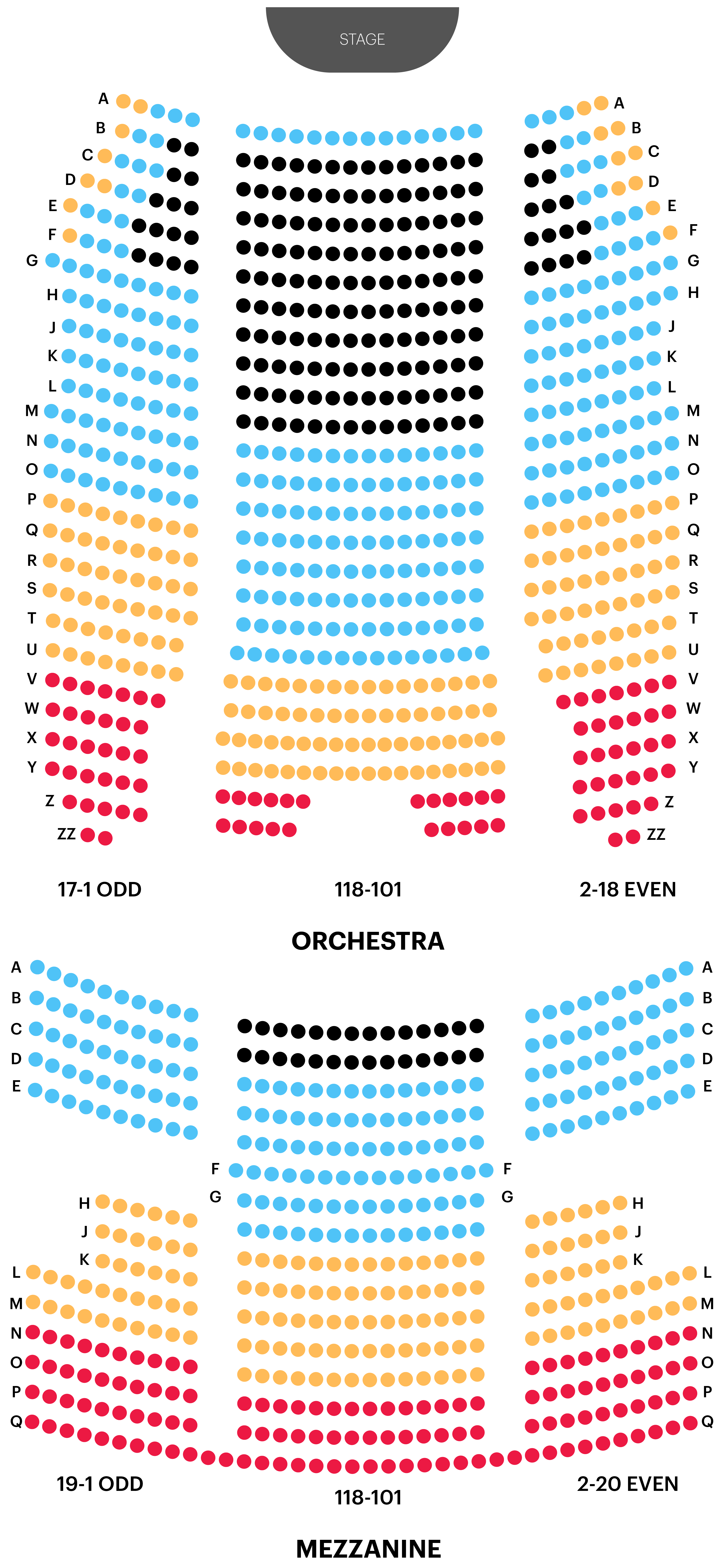 August Wilson Theatre Seating Chart Map
