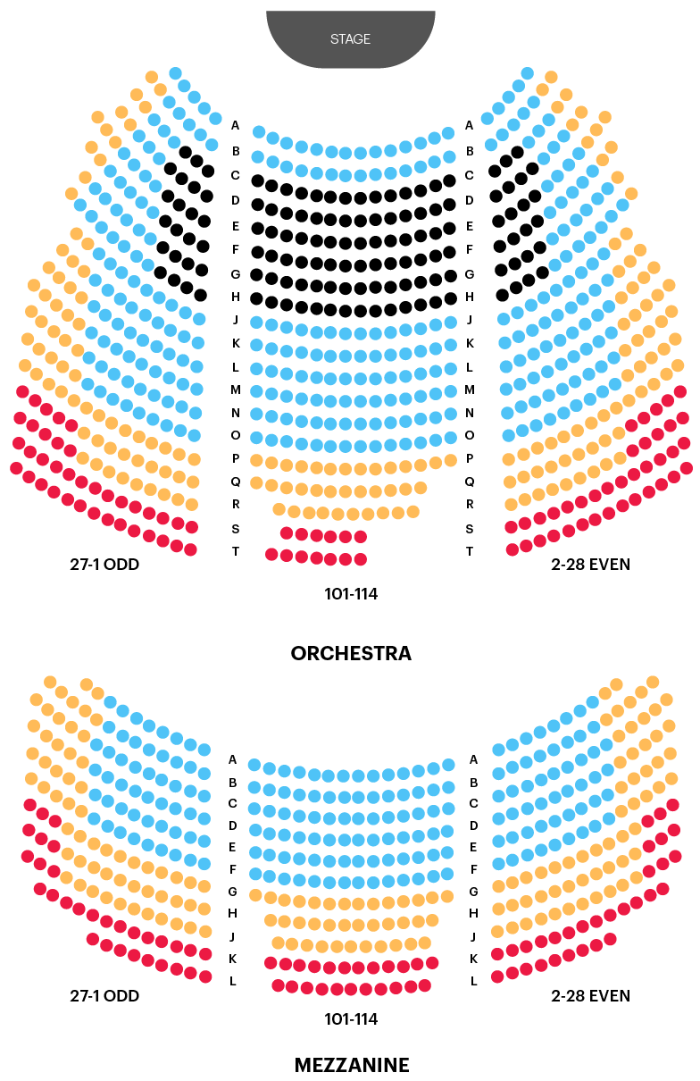 Broadhurst Theatre Seating Chart Map