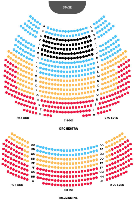Stephen Sondheim Theatre Seating Chart Map