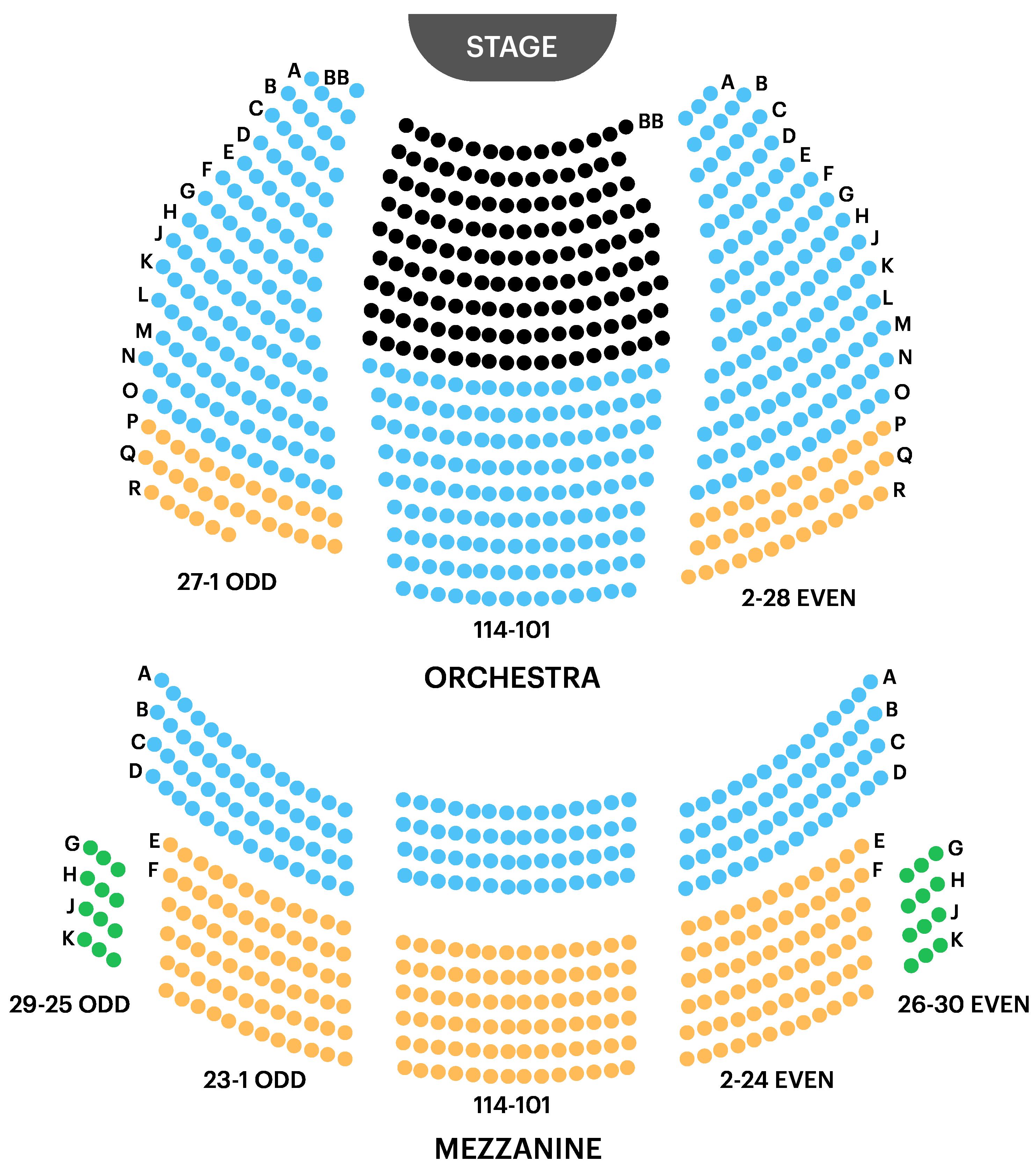John Golden Theatre Seating Chart Map
