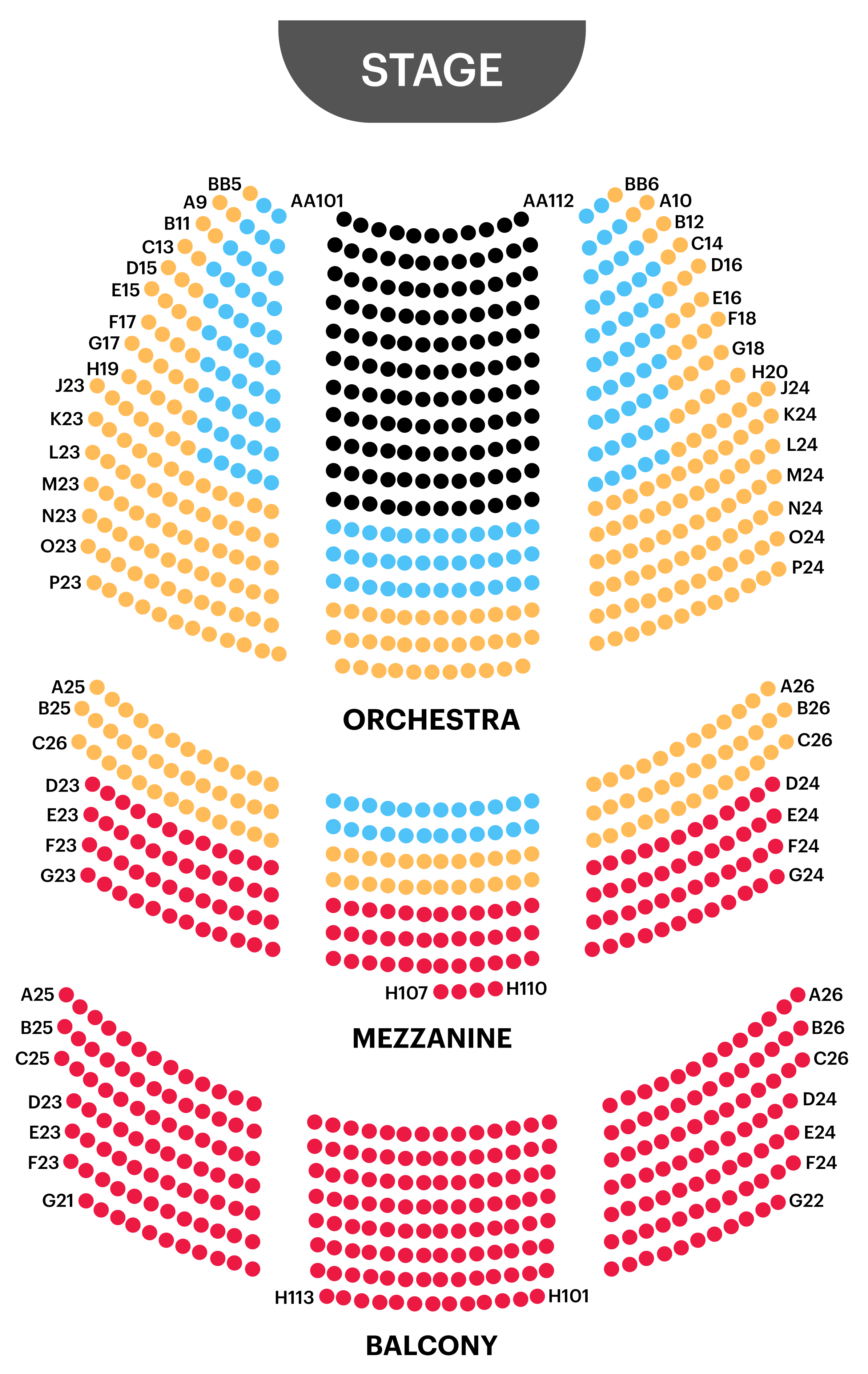 Cort Theatre Seating Chart Map