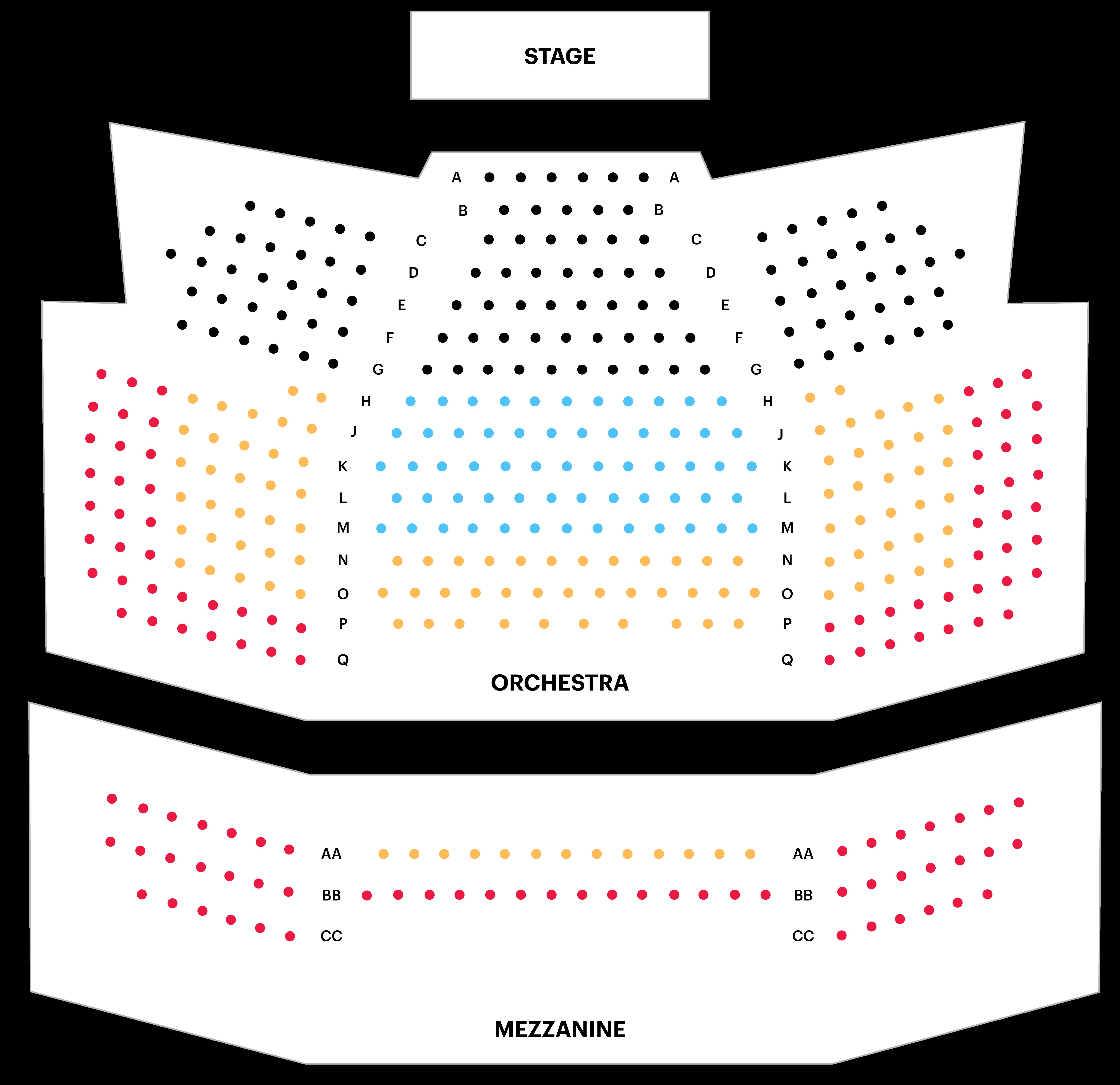 Laura Pels Theatre Seating Chart