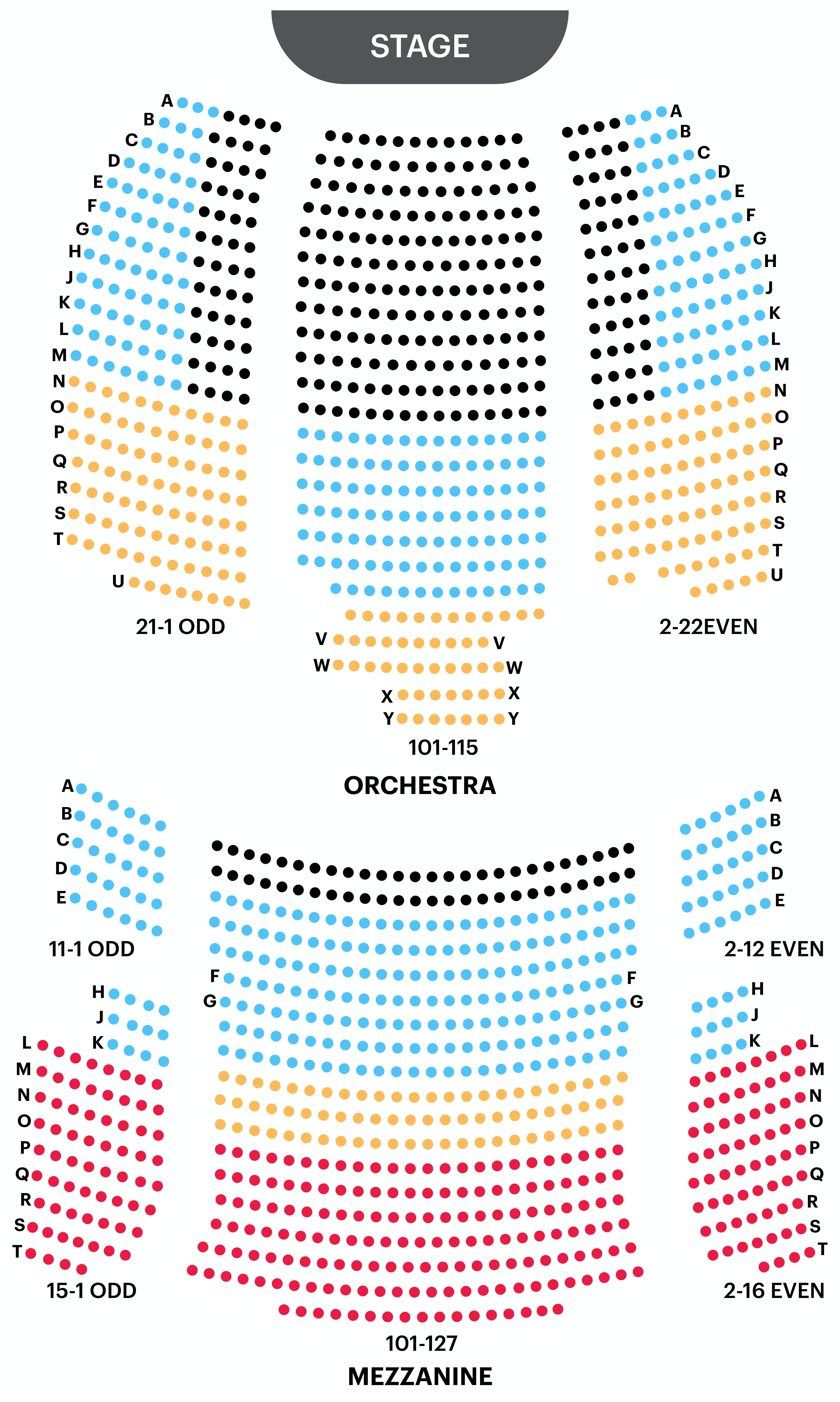 Neil Simon Theatre Seating Chart