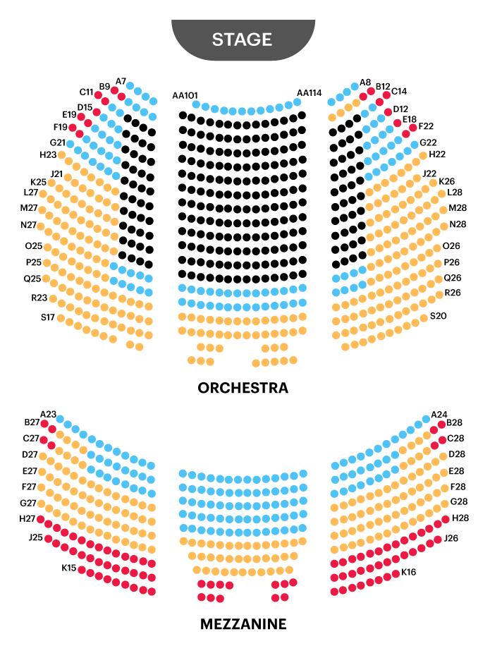 Schonfeld Theatre Seating Chart Map