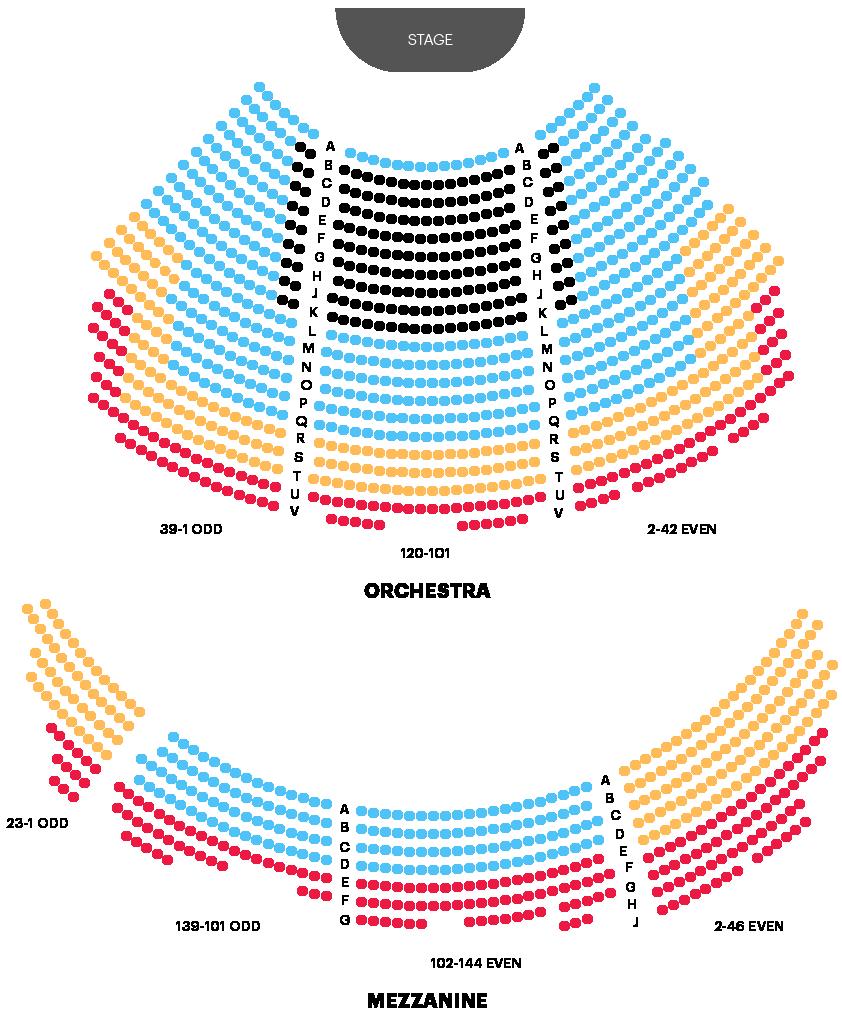 Winter Garden Theatre Seating Chart Map