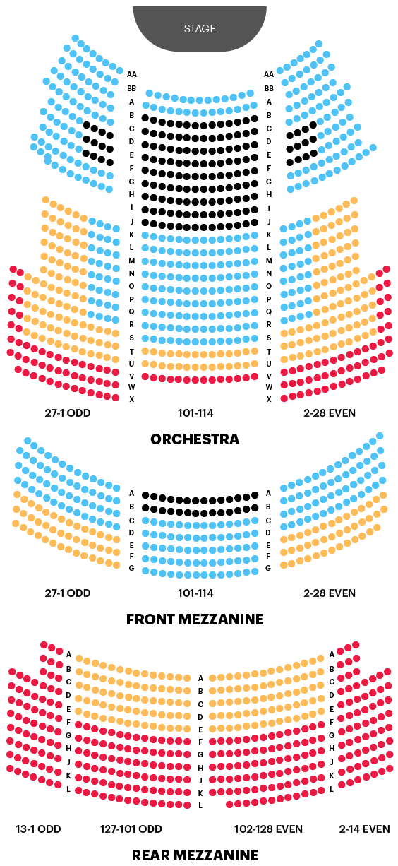 Majestic Theatre Seating Chart Map