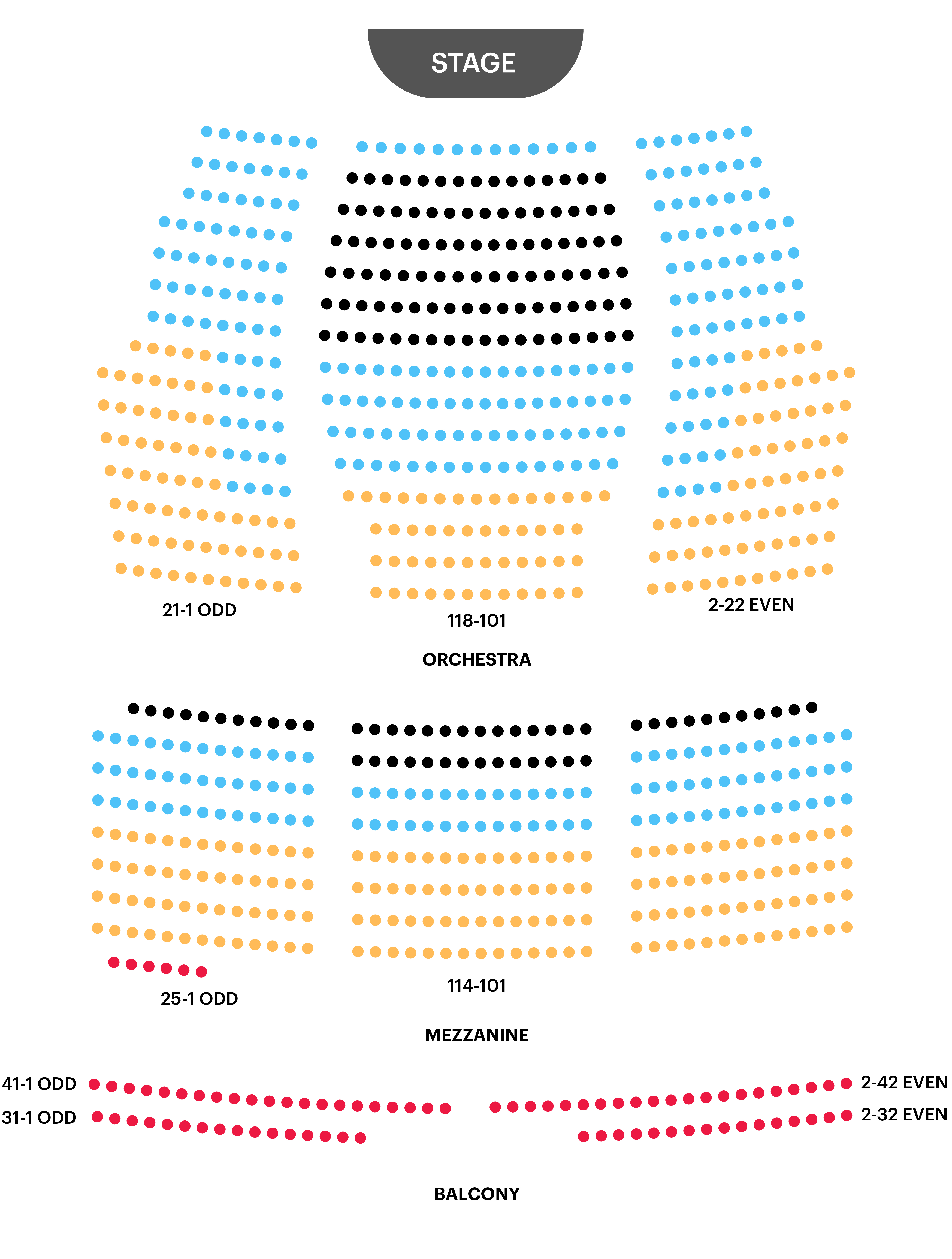 Walter Kerr Theatre Seating Chart Map