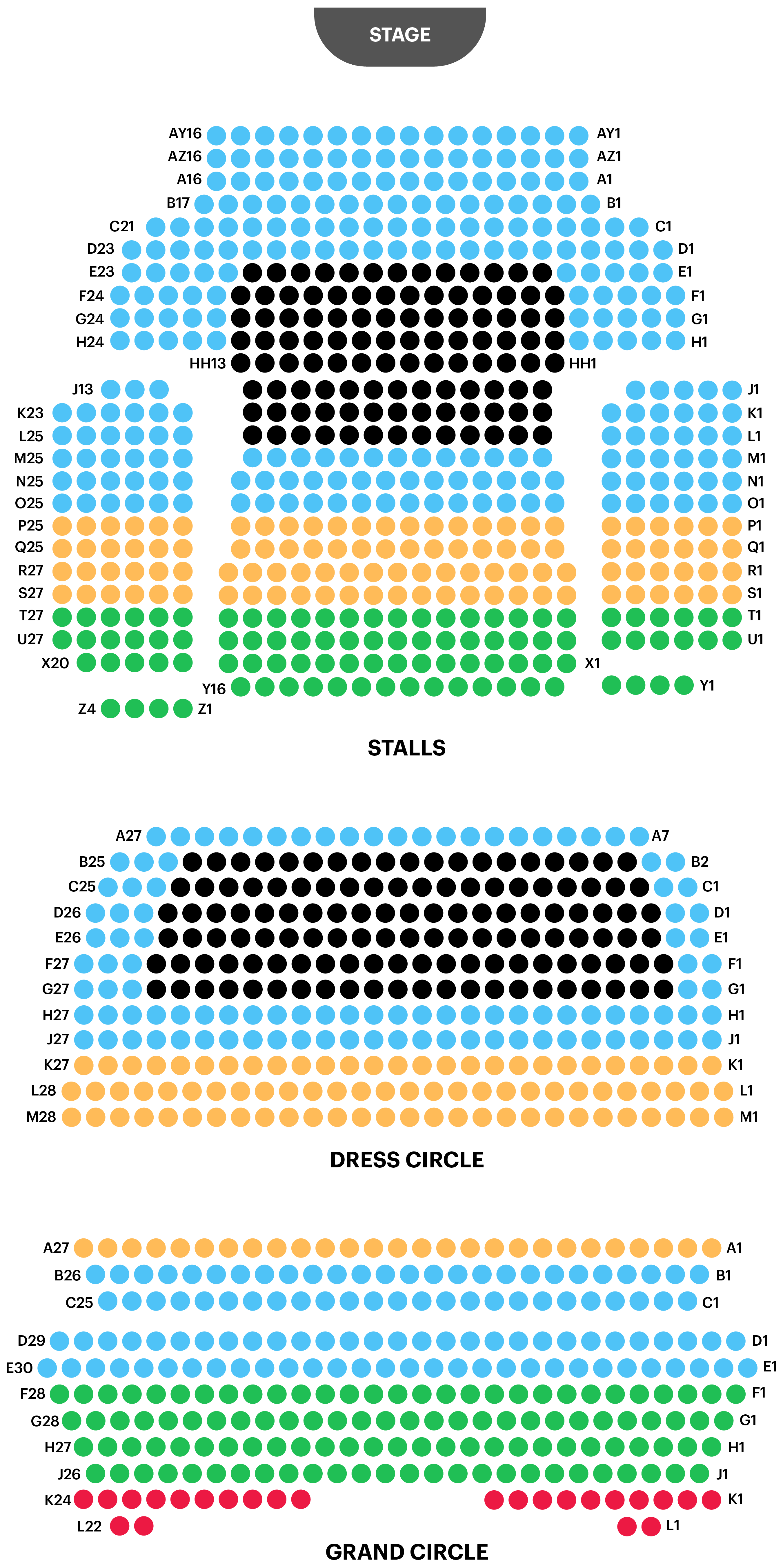 Aldywch Theatre Seating Plan