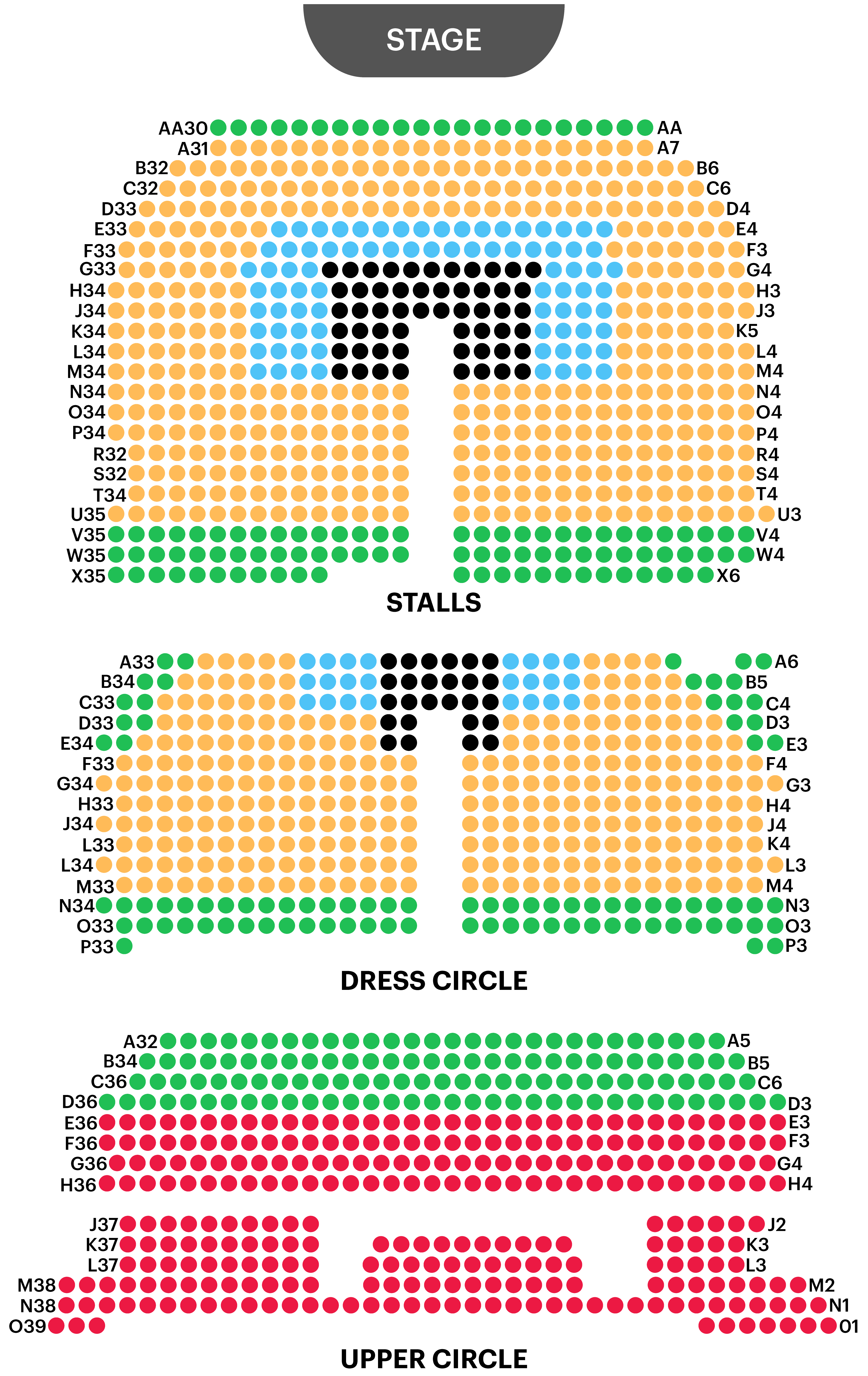 Adelphi Theatre Seating Plan
