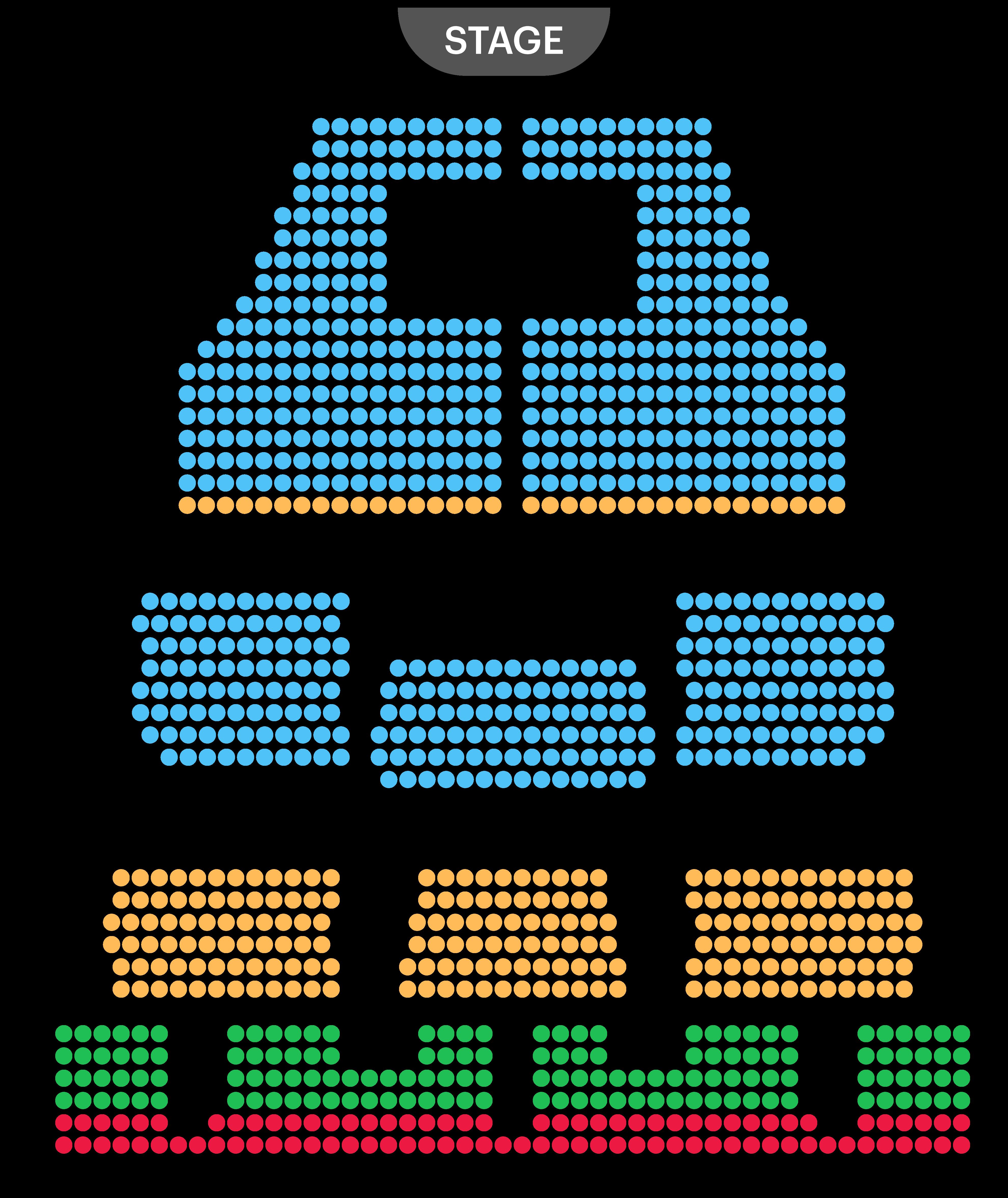 Cambridge Theatre Seating Map