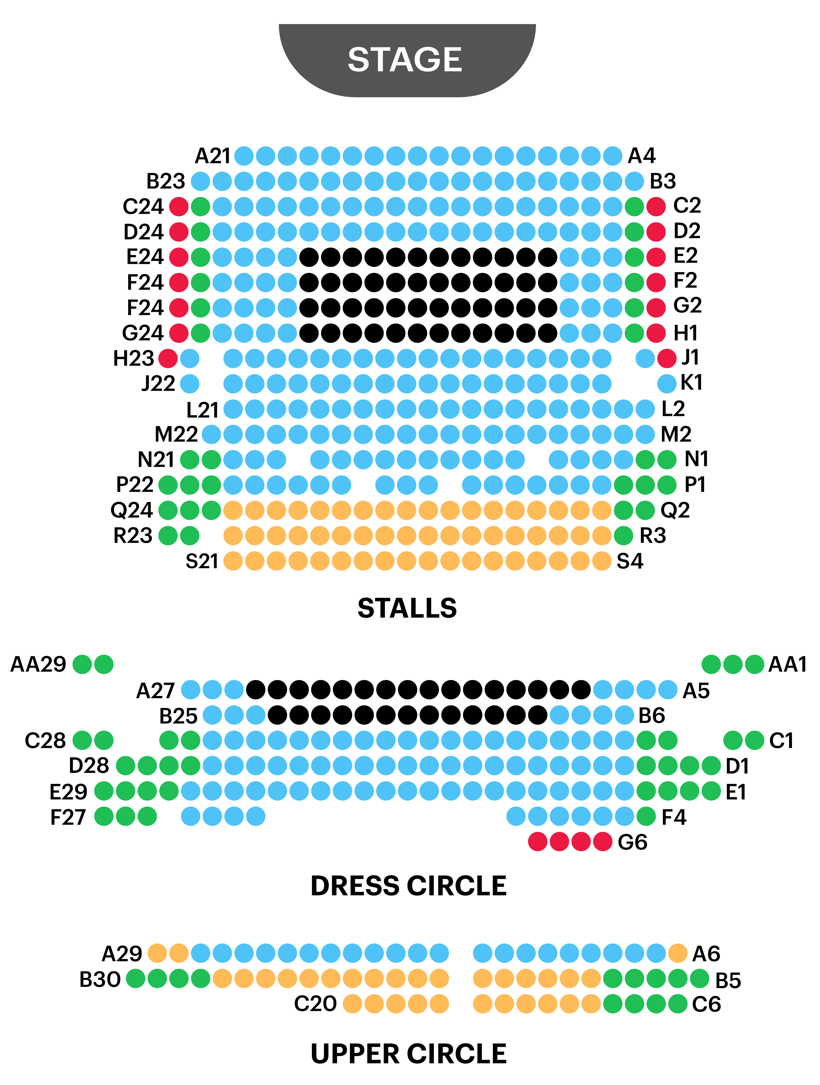Criterion Theatre Seating Map