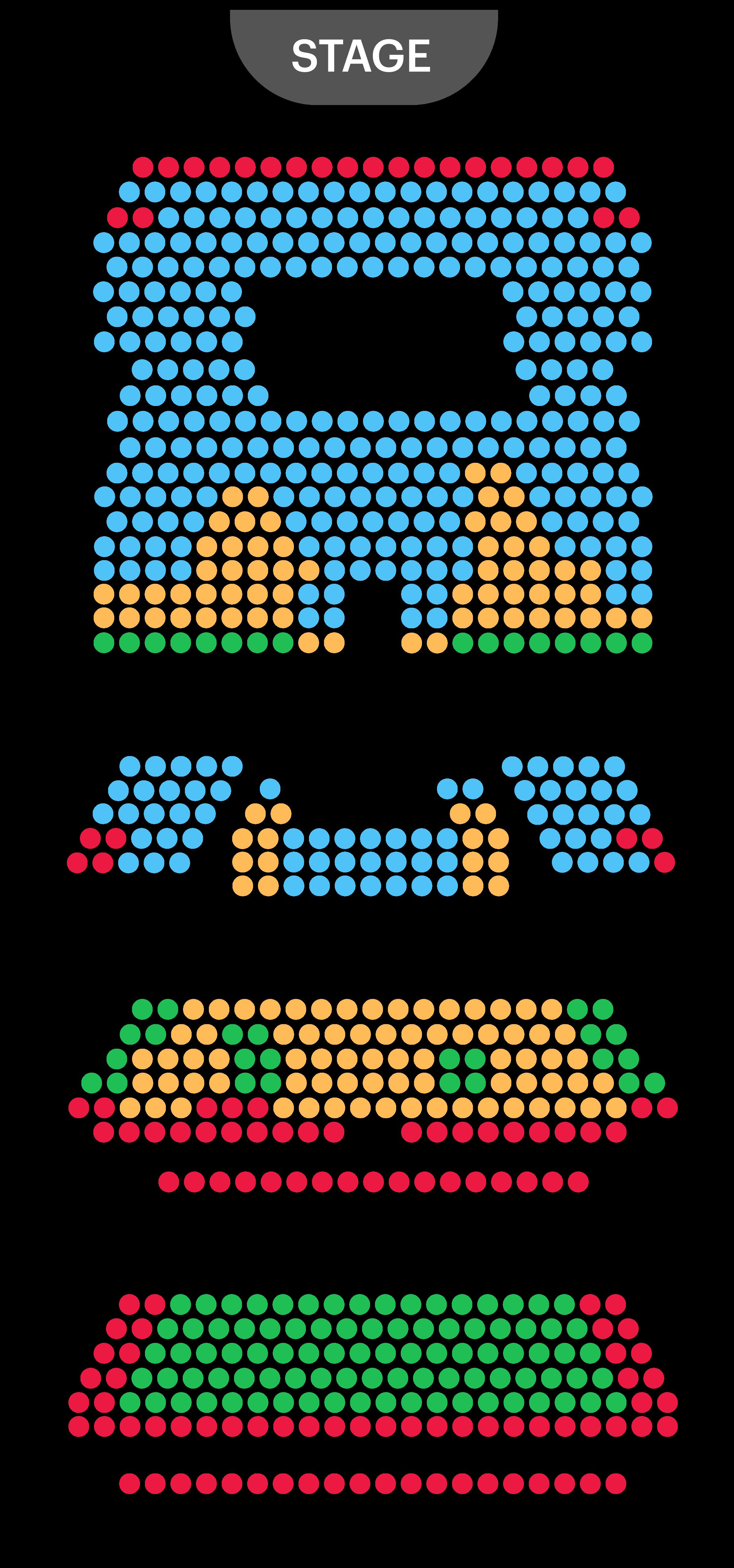 Harold Theatre Seating Plan