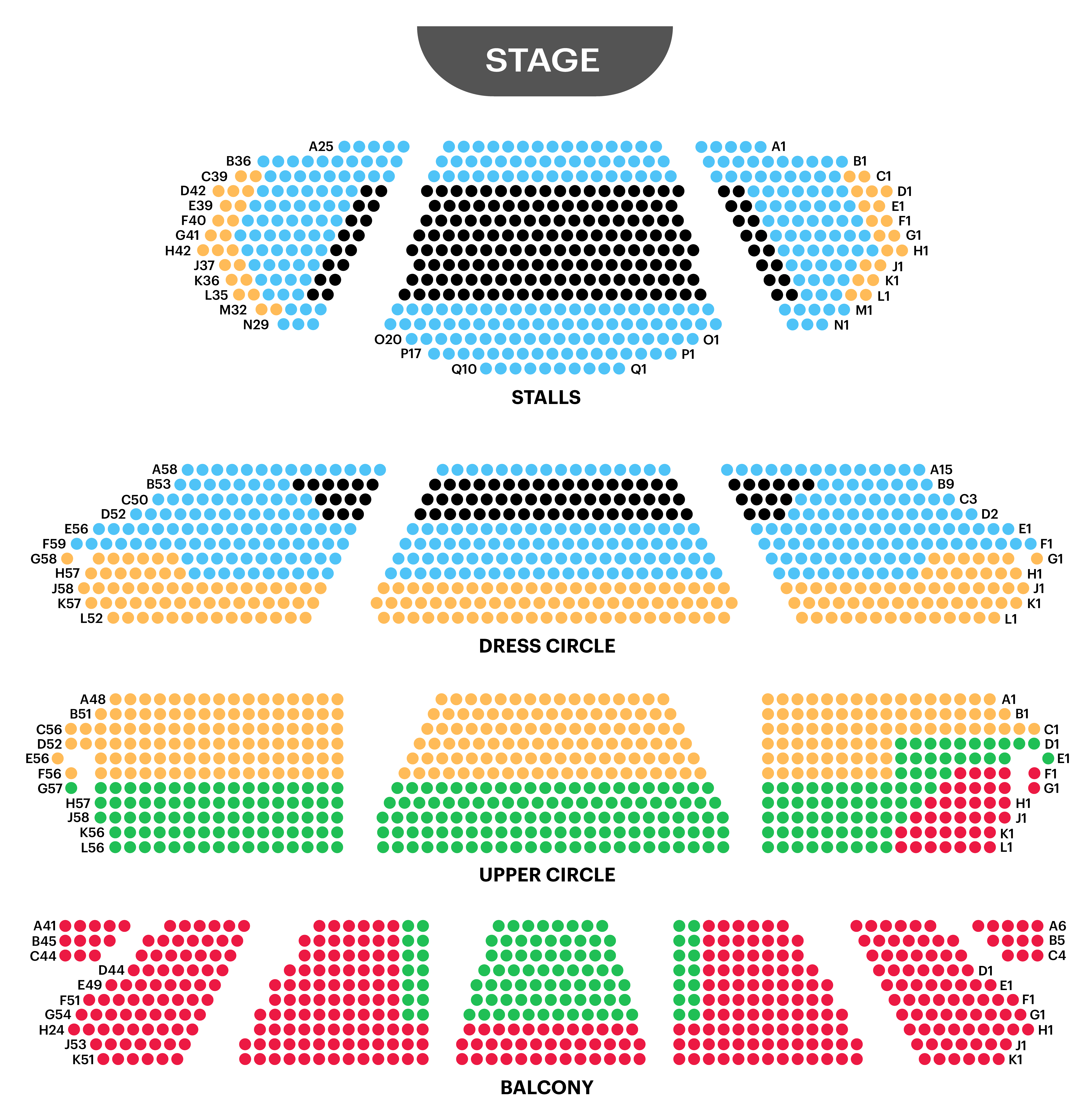 London Coliseum Seating Map