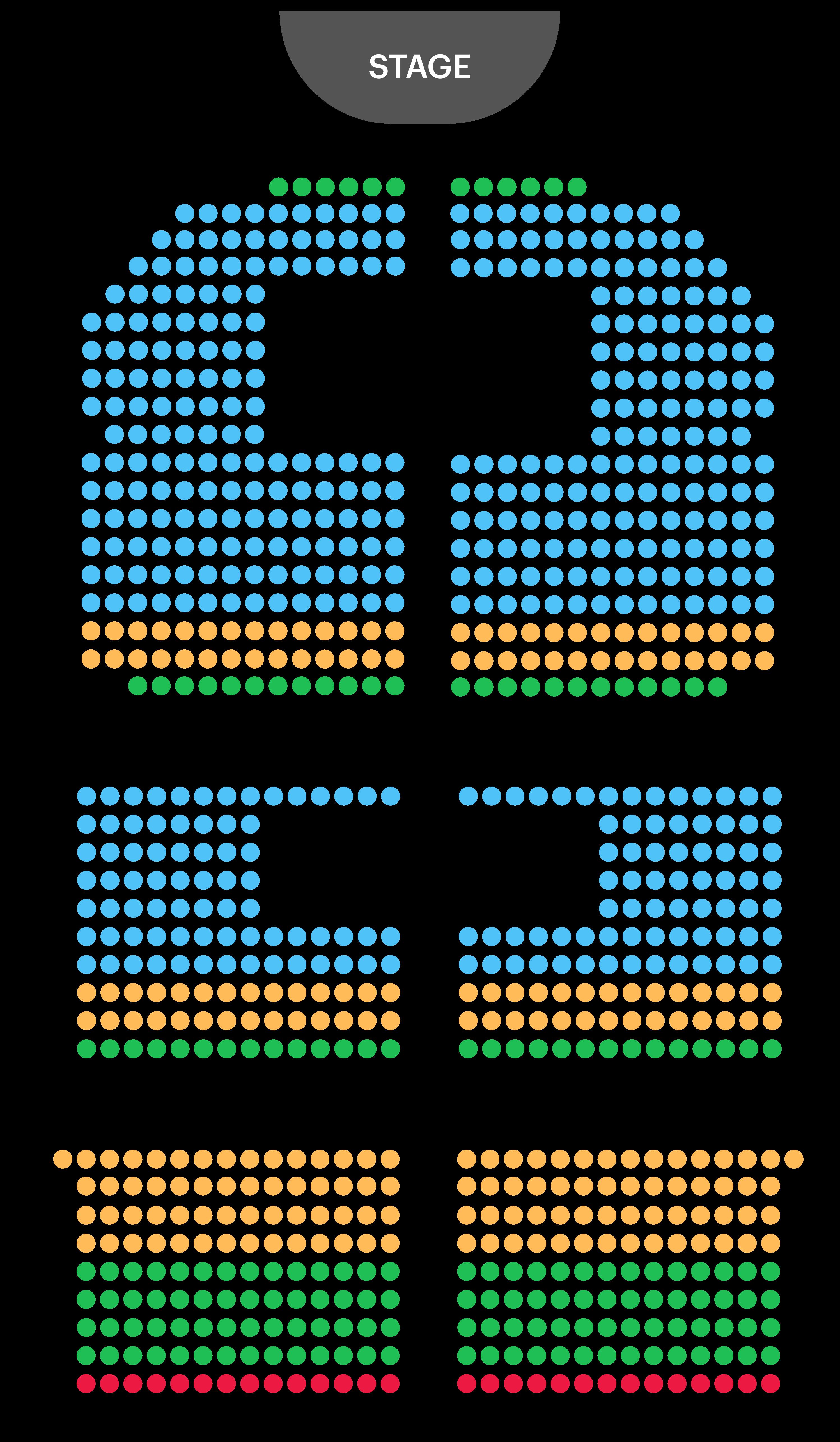 Phoenix Theatre Seating Map