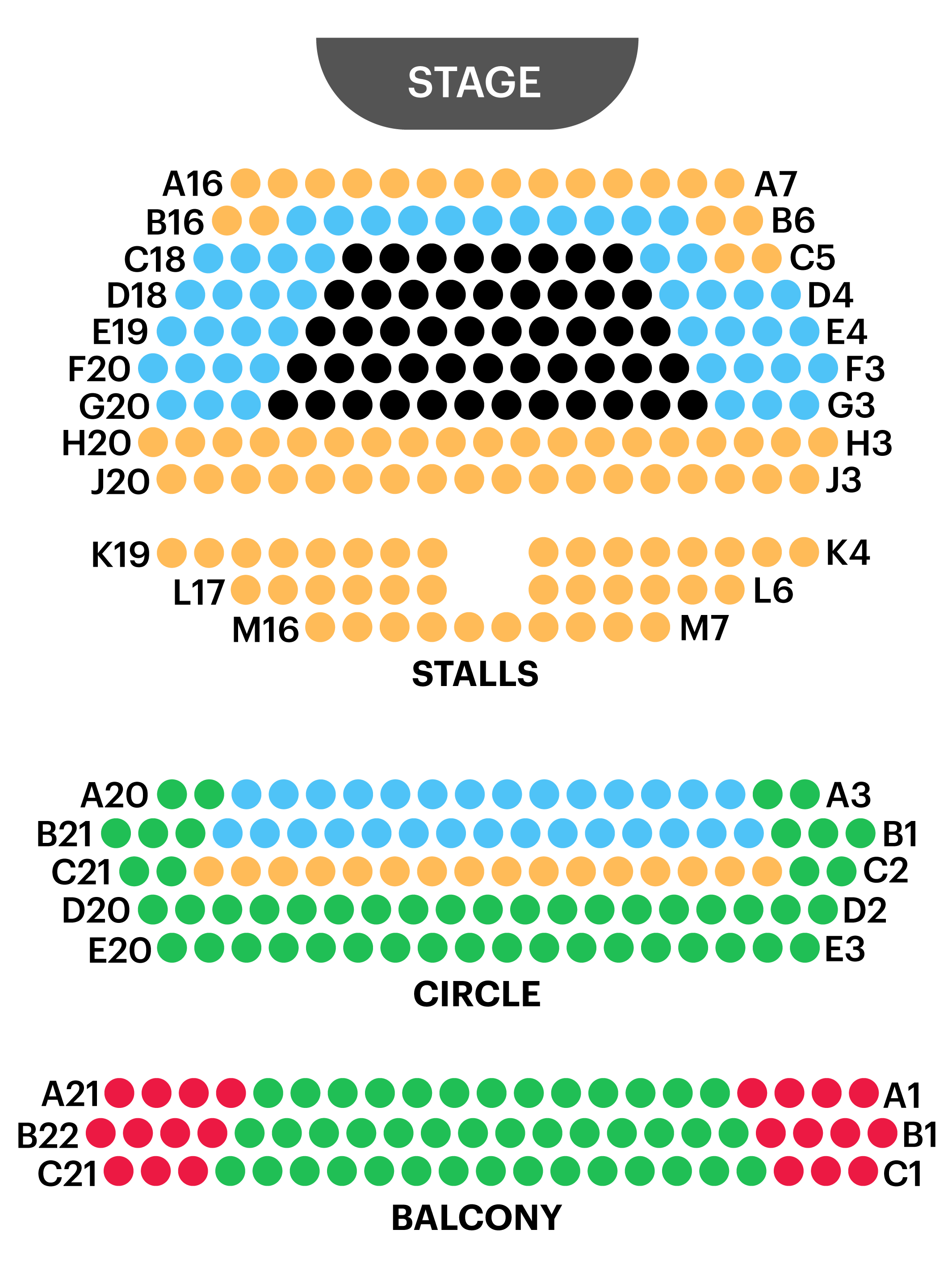 Royal Court Theatre Seating Map