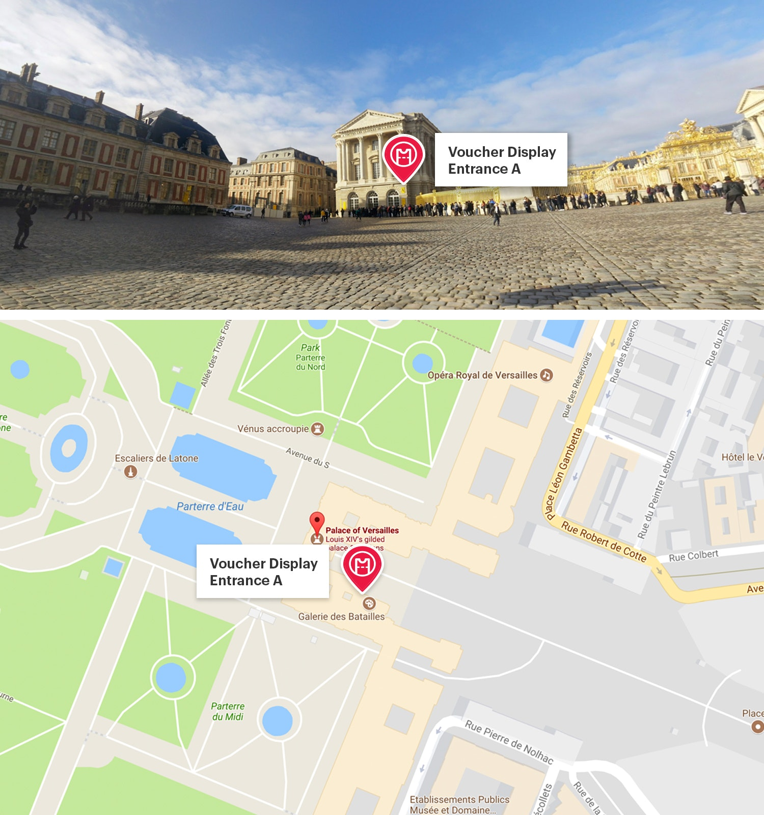 Palazzo di Versailles Map