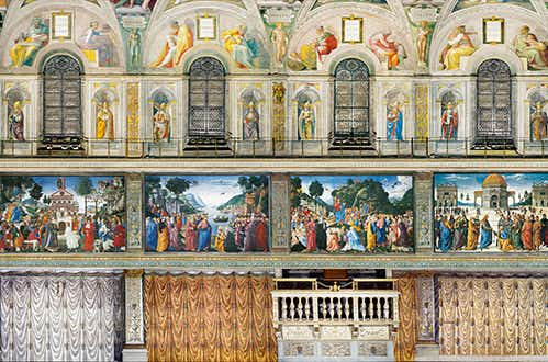 Sistine chapel Northern Walls